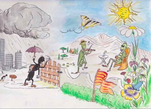 La fourmi et la cigale-fable inversee
