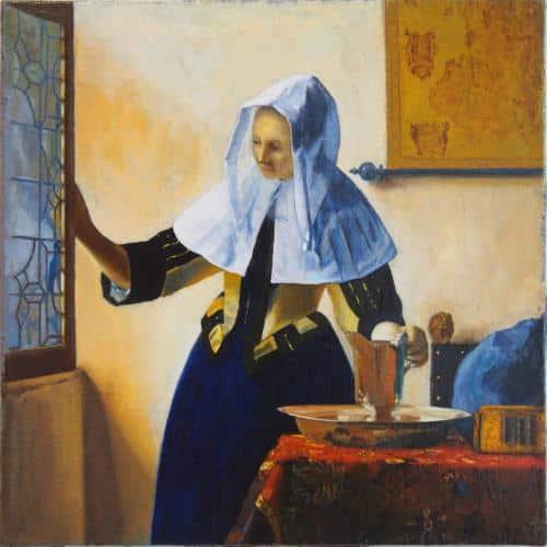 La jeune fille à l'aiguiere Vermeer