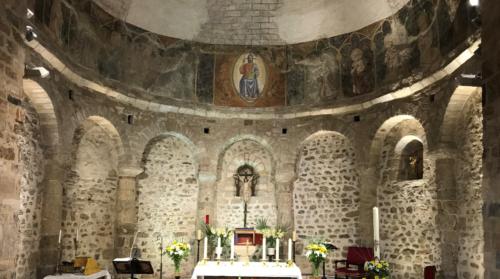 Christ en majesté entouré du collège des apôtres