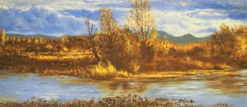 L'etang de Villeneuve en automne