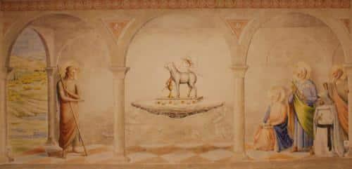 l'adoration de l'Agneau pascal
