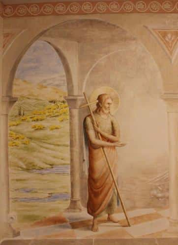 saint Jean Baptiste, indiquant du doigt l'Agneau de Dieu