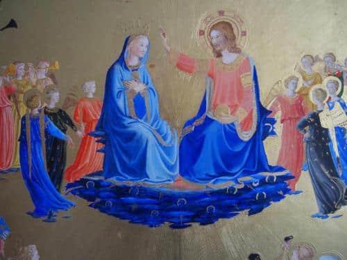 couronnement de la vierge détail