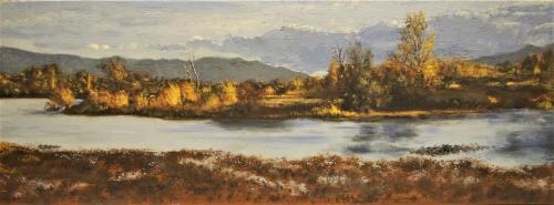 Le lac de Villeneuve en automne sous le vent